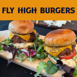 Sept. 18 Saturday Food w/ Fly High Burgers